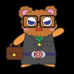 【MAMESUKE実績】イラスト ぽんきちワーキングバージョン