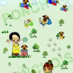 【MAMESUKE実績】iPad用壁紙イラスト制作