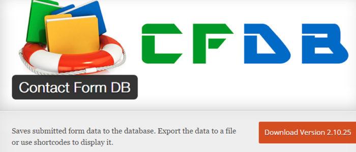Wordpressプラグイン Contact Form DB はなくなってはいなかった!!